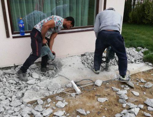 Къртене на бетонна настилка – кв. Драгалевци