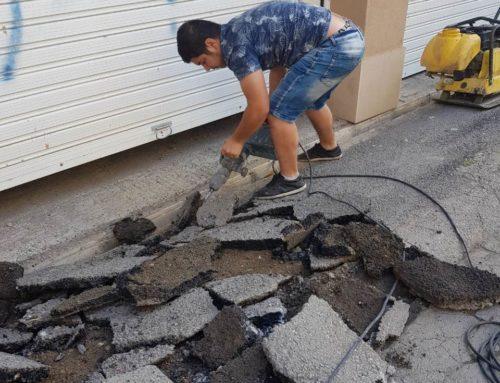 Къртене и извозване на асфалт