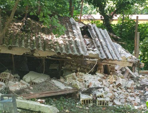 Събаряне на сграда в Бояна